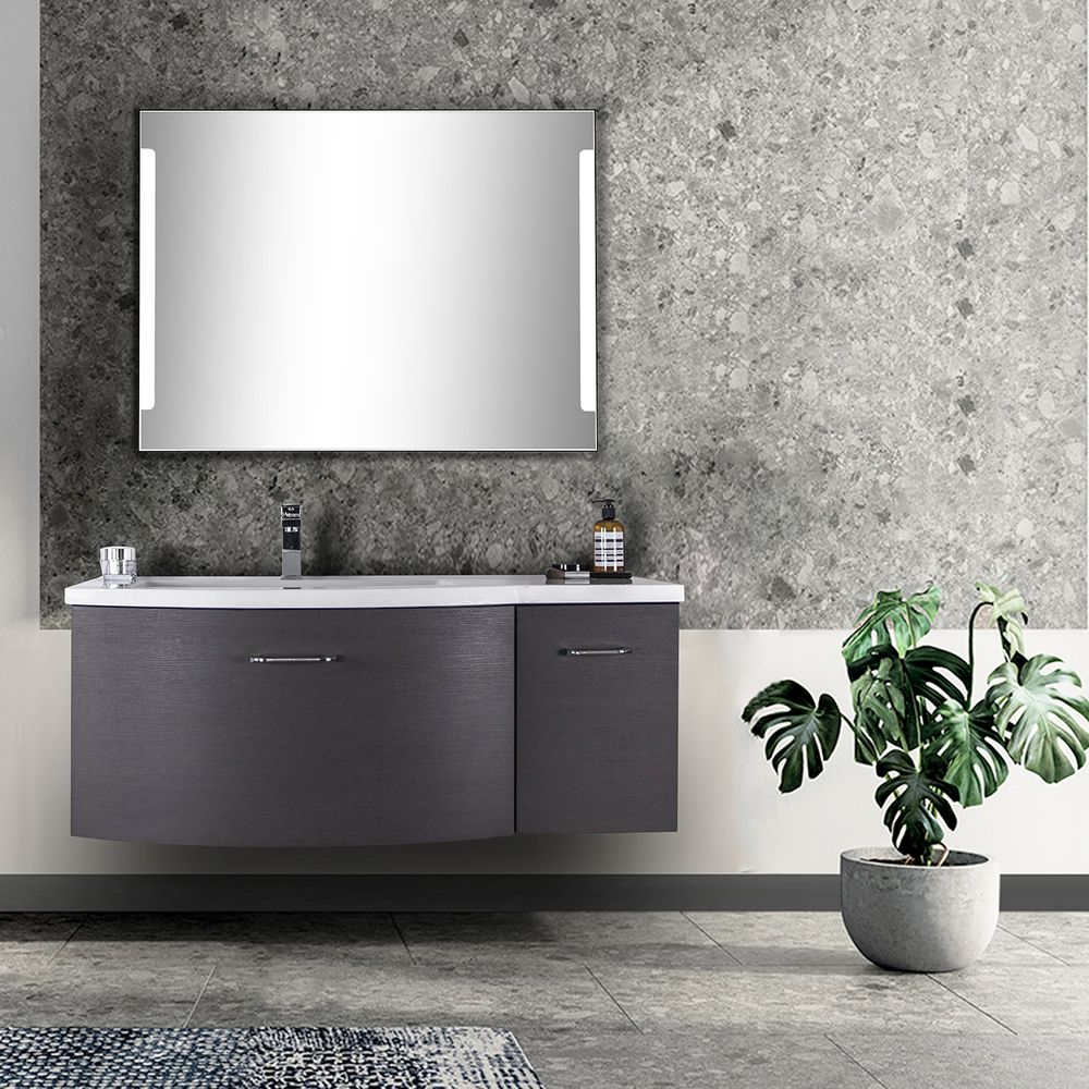 Wall-Hung Bathroom Furniture Set DANA 850 - Slightly Rounded Shape - Anthracite – Bild 1