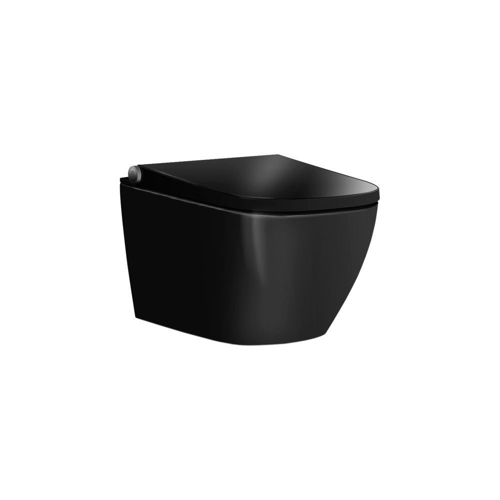 Shower toilet BERNSTEIN Basic 1104 - toilet integrated bidet function - Glossy Black - rimless - japanese WC – Bild 1