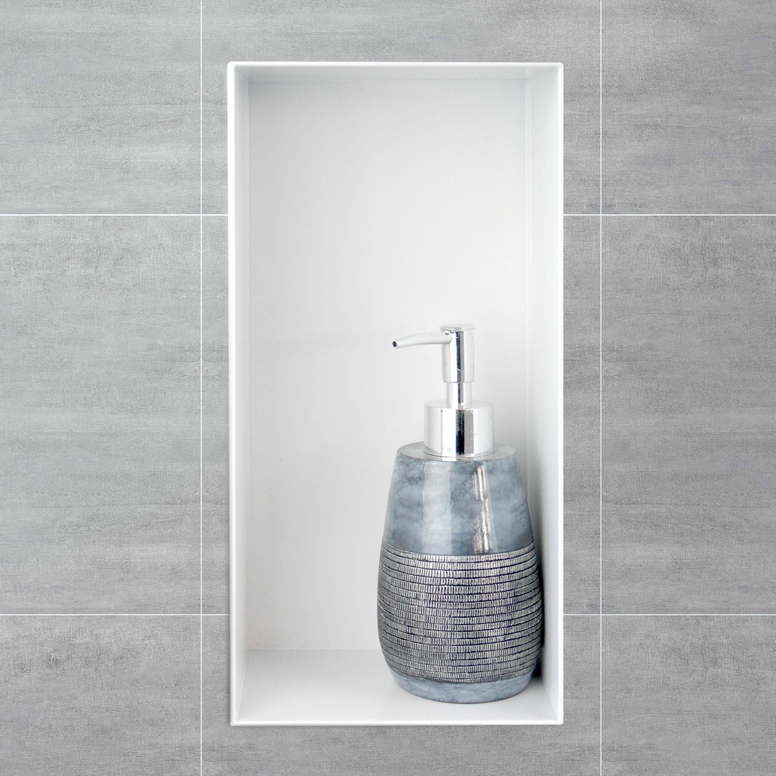 BERNSTEIN Wandnische aus Edelstahl BS153010 randlos - 15 x 30 x 10 cm - Farbe wählbar