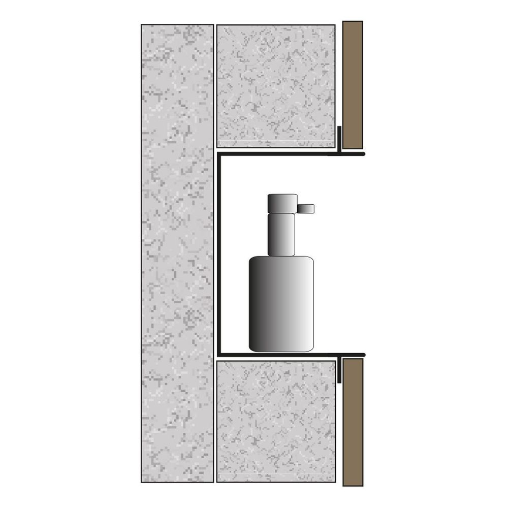 BERNSTEIN Frameless Wall Niche BS156010 - 15 x 60 x 10 cm - different colours available – Bild 8