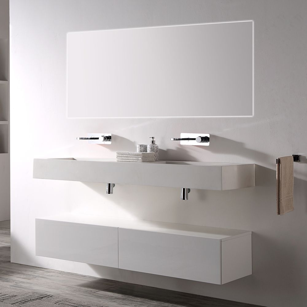 Wall Mounted Cabinet  TLB150 - 150x43x28cm - Two colours available – Bild 1