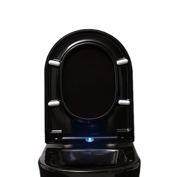 WC-Sitz Soft-Close U1002 Schwarz mit LED-Beleuchtung - passend für BERNSTEIN WCs (CH1088, 1088R, NT2019, NT2039, B-8030, CT1088, CT1099) – Bild 1