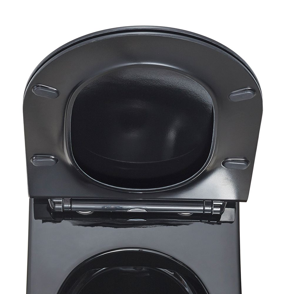 Remplacement Toilet Seat - Black -  for BERNSTEIN CH1088, 1088R, NT2019, NT2039, CT1099, CT1088 and B-8030 – Bild 2