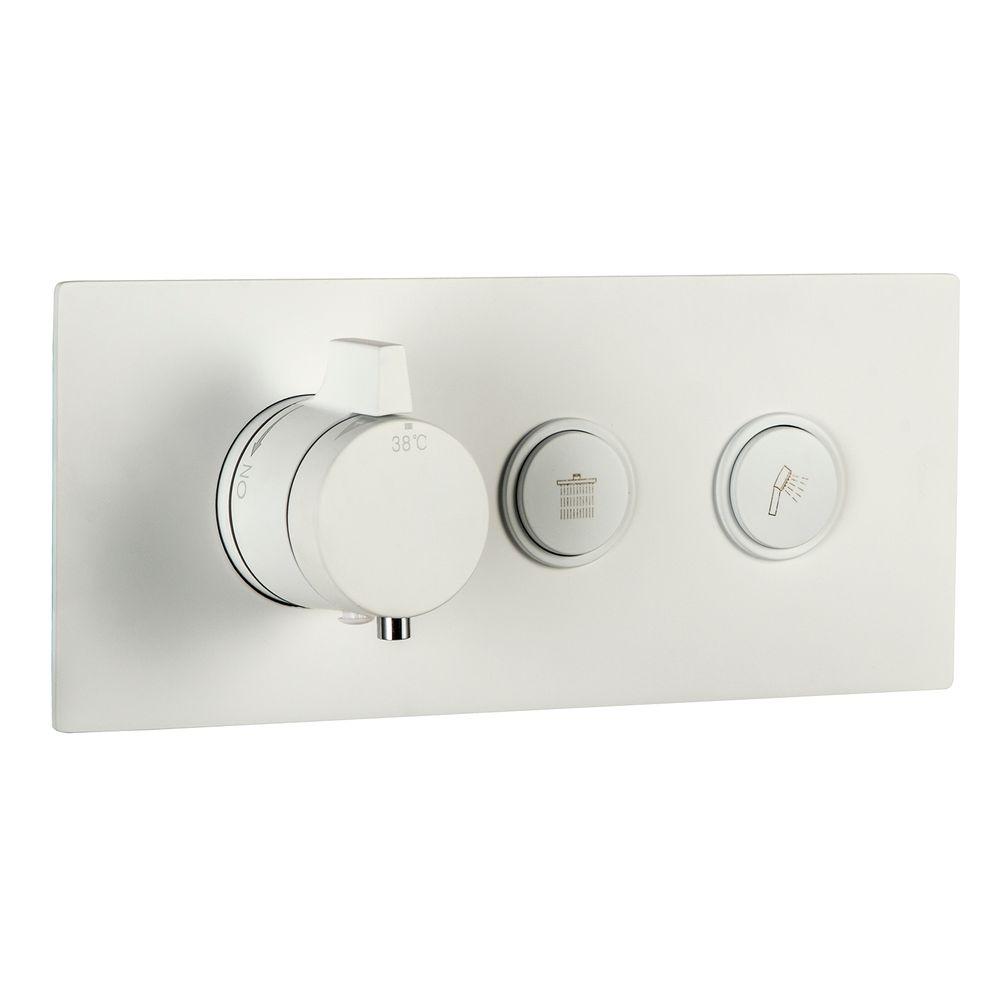 Concealed Thermostatic Shower Valve - 2 Outlet - NT7176 - available in Matt Black or Matt White – Bild 2