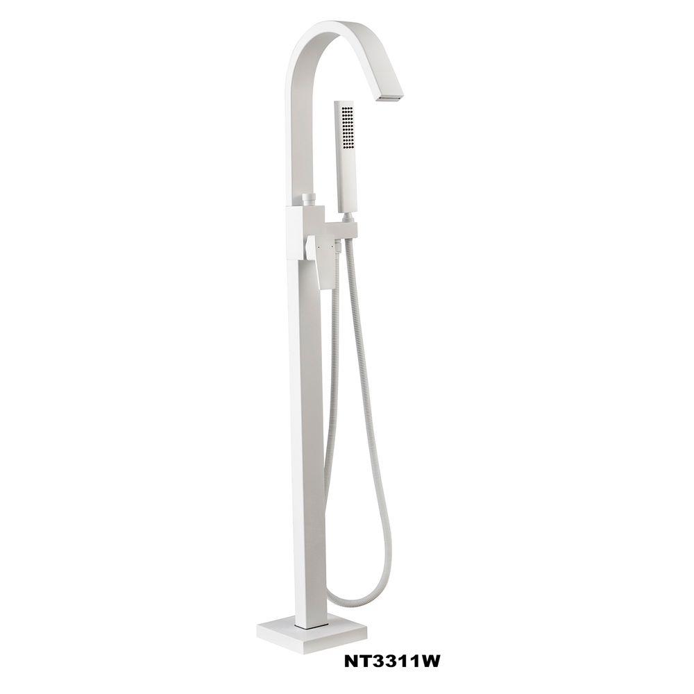 Freistehende Badewanne VENETO Acryl Weiß oder Schwarz/Weiß - Glänzend - 180 x 110 x 60 cm - Standarmatur wählbar – Bild 20