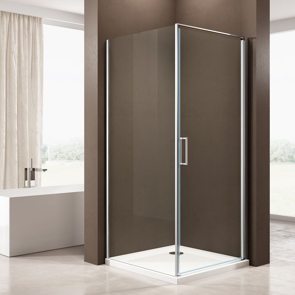Corner shower enclosure, with NANO coating - 8mm - NT416 - Profile color and Width selectable – Bild 1