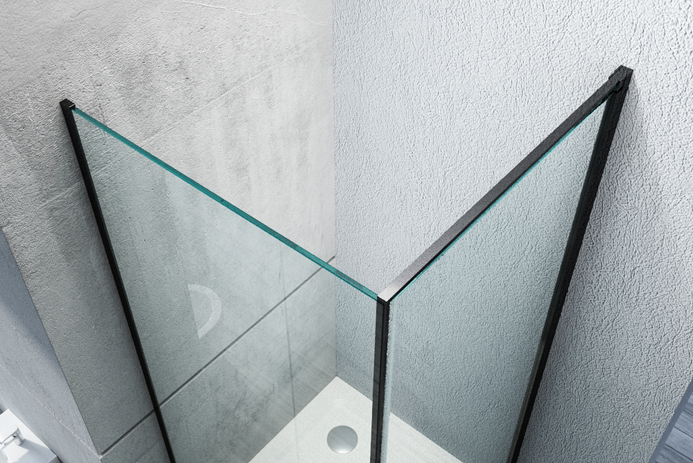 Corner shower enclosure, with NANO coating - 8mm - NT416 - Profile color and Width selectable – Bild 7