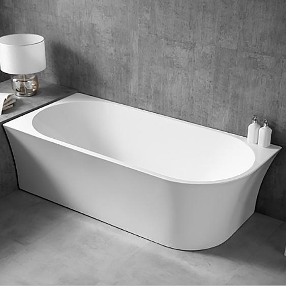 Freistehende Raumsparbadewanne NOVA CORNER Acryl Weiß - Einbau links - 170 x 78 cm - Oberfläche & Standarmatur wählbar – Bild 1