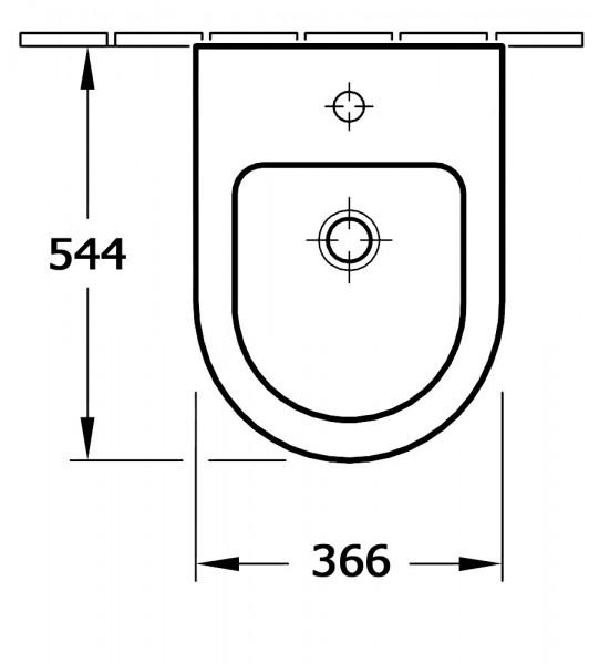 Hochwertiges Wand-Hänge-Bidet CH2019V - Optional mit Zubehör – Bild 2