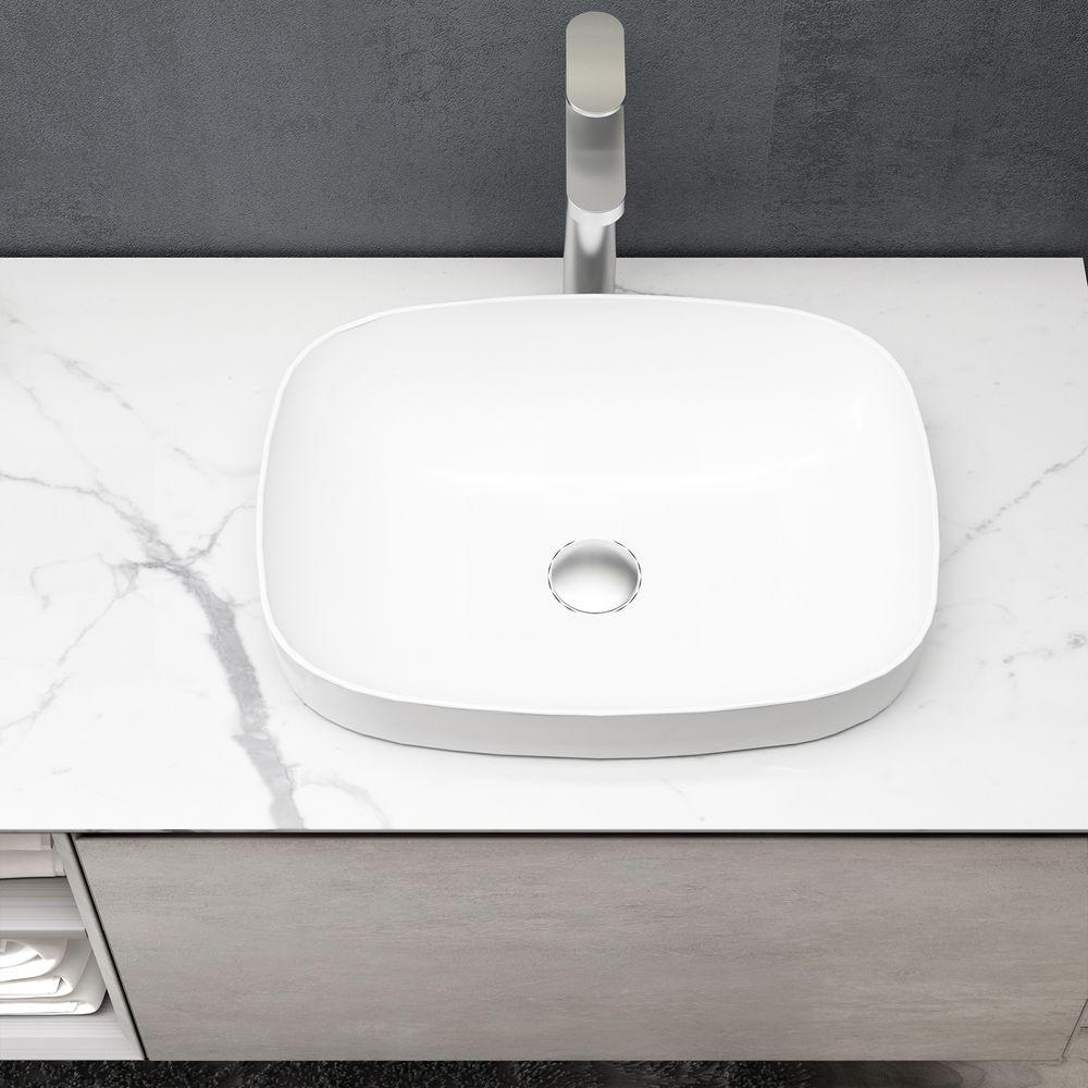 Mobile da bagno sospeso INALCO 1900 effetto cemento - Specchio LED opzionale – Bild 5
