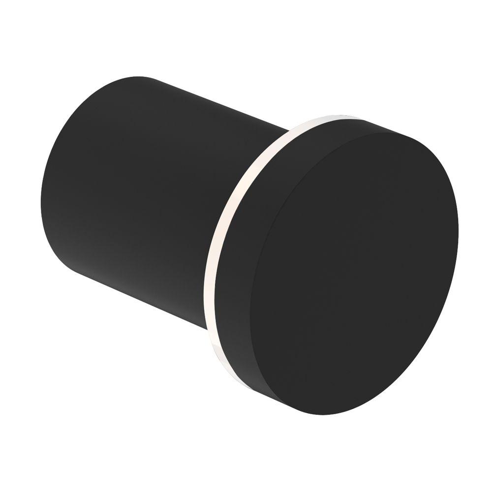 Moderner Handtuchhaken SDVHK Design rund - Serie VERSA - schwarz matt – Bild 1