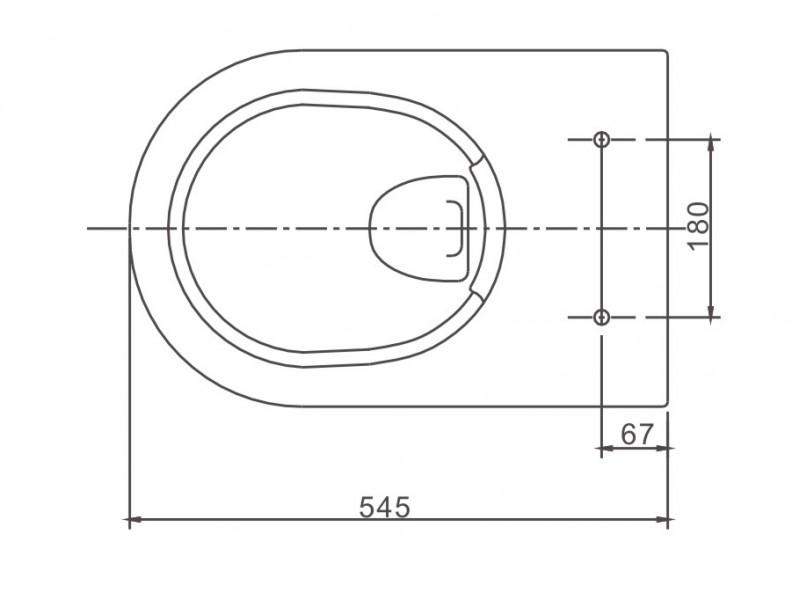 BERNSTEIN spülrandloses Wand-Hänge-WC NT2039 in Schwarz glänzend mit Softclose-Sitz  – Bild 3