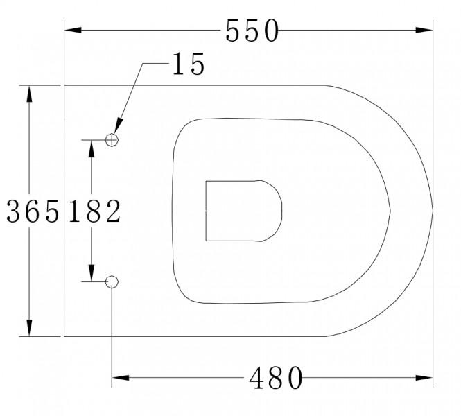 Wand-Hänge-WC B-8030 Schwarz Matt - inkl. Softclose-Deckel – Bild 2
