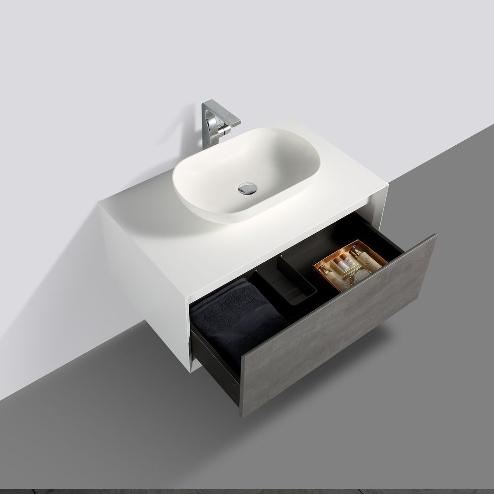 Bathroom Furniture set Fiona 900  - available in different colours  - optional Storage Unit and Mirror – Bild 4