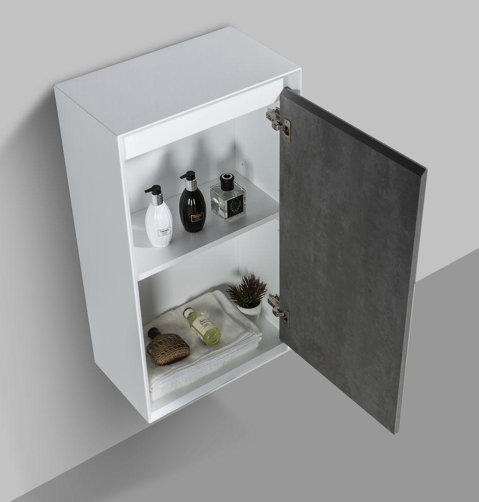 Fiona 1200 Weiß matt -  Front in Beton-Optik und Eiche-Optik -  Seitenschränke und Spiegel optional – Bild 6