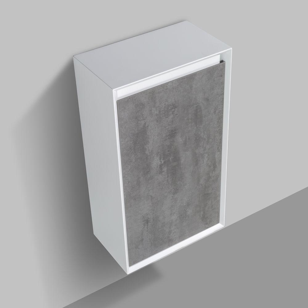 Meuble de salle de bain Fiona 1400 - façade effet béton ou chêne - miroir et colonne de rangement en option – Bild 5
