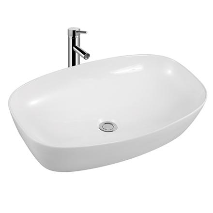 Aufsatzwaschbecken aus Keramik KW6257 - 50 x 38 x 13 cm - Weiß glänzend – Bild 1