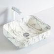 Countertop Washbasin KW6127 made of sanitary ceramic - 50 x 39 x 13 cm - optional colour 001