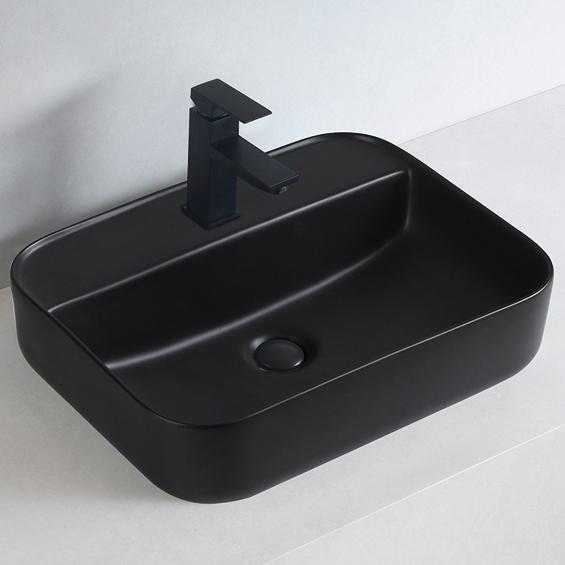 Aufsatzwaschbecken aus Keramik KW8085 - 50 x 40 x 13 cm - Farbe wählbar – Bild 2