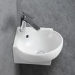 Wall Hung Basin KW198A - sanitary ceramic -  - 39,5 x 36,5 x 14 cm - glossy white
