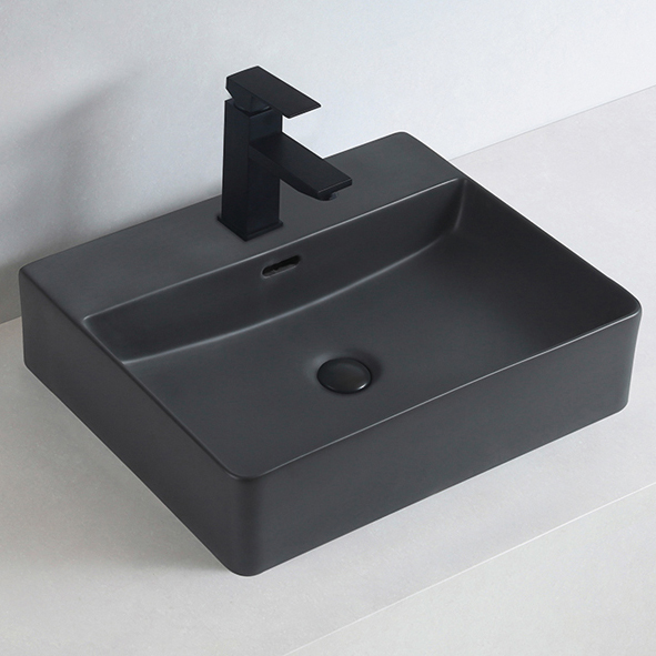 Countertop or Wall Mounted Washbasin made of sanitary ceramic KW6146 - 52 x 42 x 12,5 cm - optional colour – Bild 2