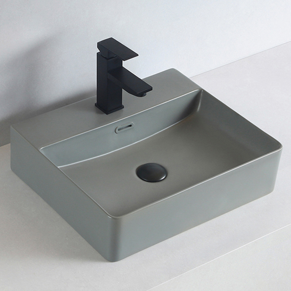 Countertop or Wall Mounted Washbasin made of sanitary ceramic KW6146 - 52 x 42 x 12,5 cm - optional colour – Bild 3