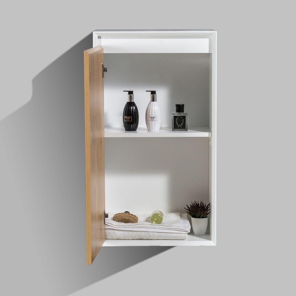 Seitenschrank Fiona - passend zum Badmöbel-Set - Beton-Optik / Eiche-Optik – Bild 3