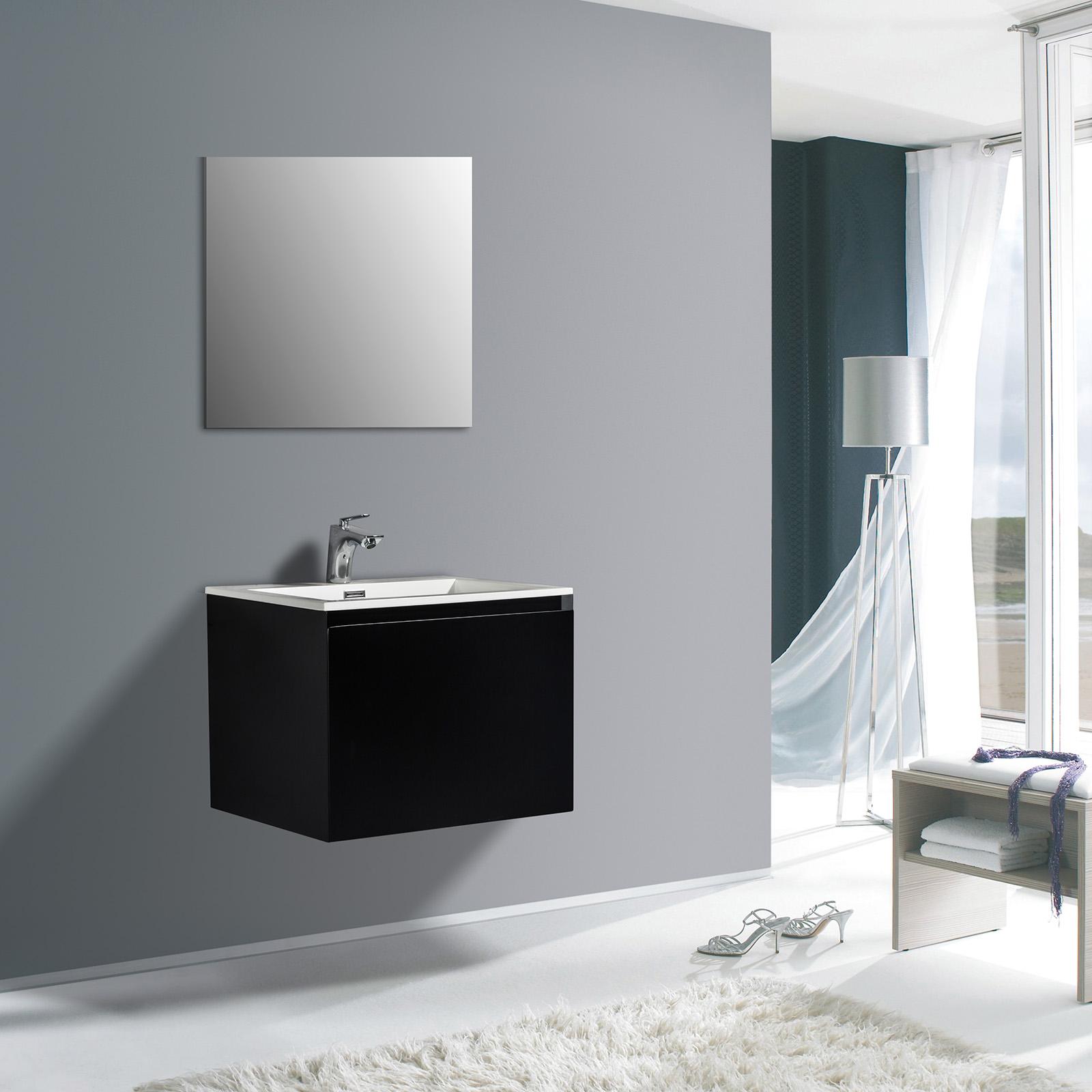 Badmöbel-Set Luna 600 - in verschiedenen Farben - optional mit Badschrank und Spiegel