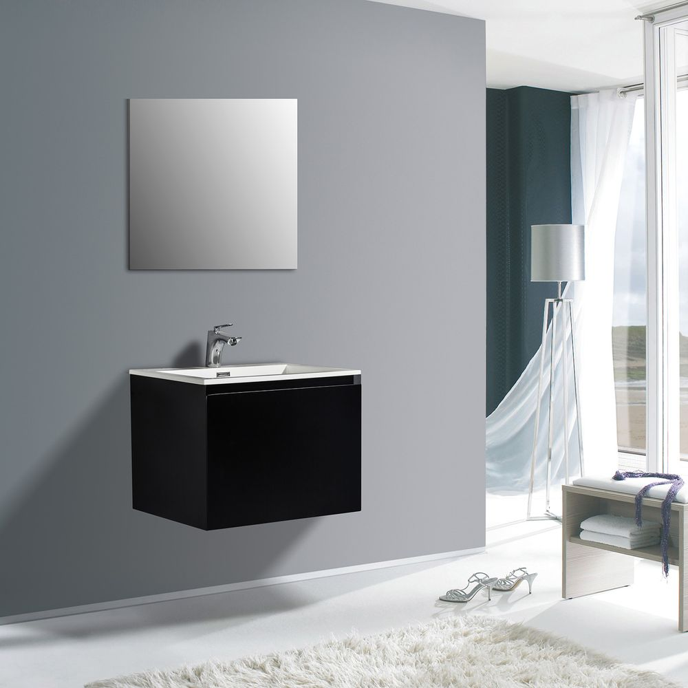 Bathroom Furniture set Luna 600 - available in different colours - optional wall mounted side cabinet and mirror – Bild 1