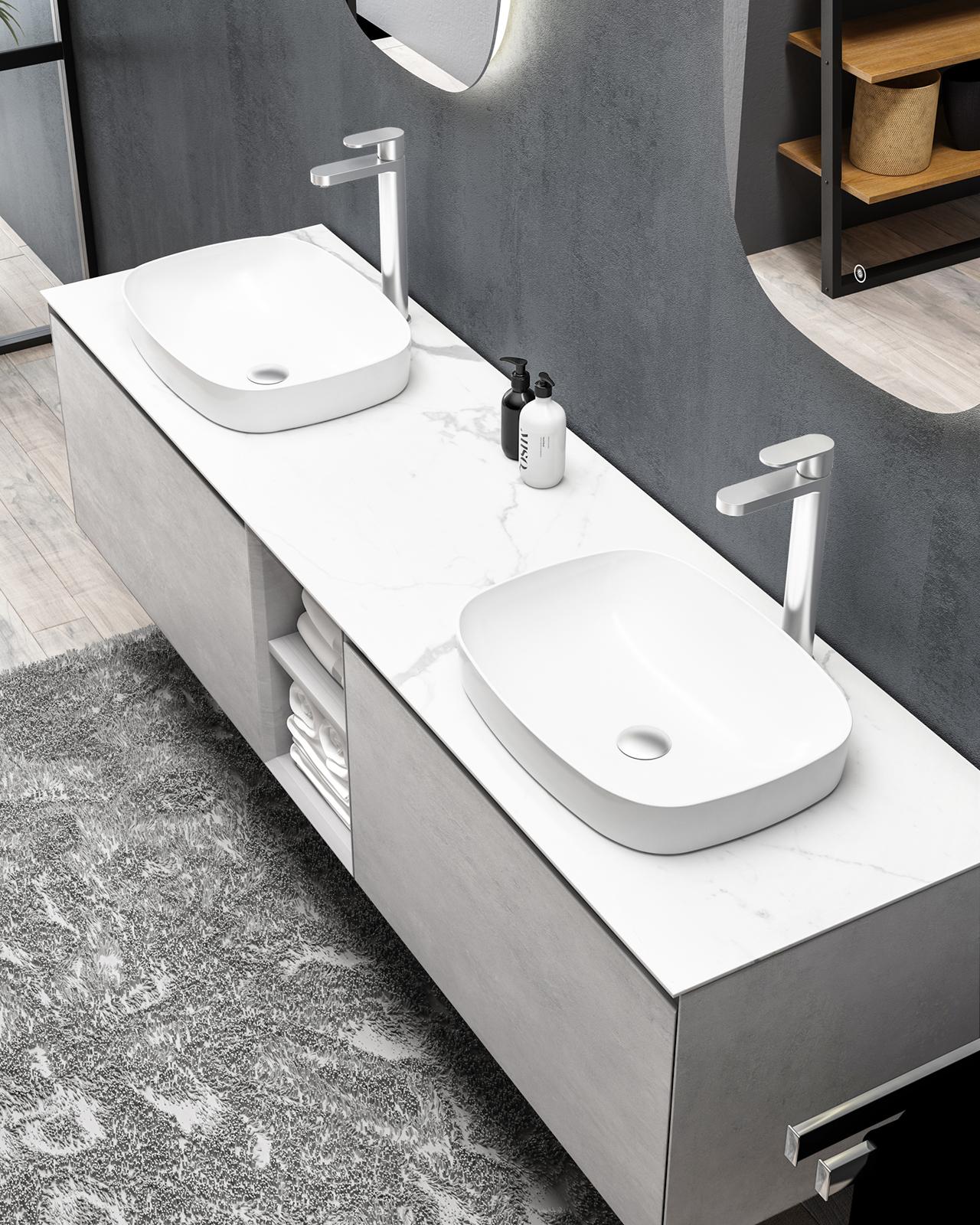 Mobile Bagno Lavandino Incasso lavabo da incasso o da appoggio inalco in ceramica sanitaria