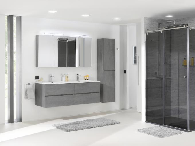 Bathroom Furniture Set EDGE 1200 - available in different colours - optional mirror cabinet and Storage Unit – Bild 19