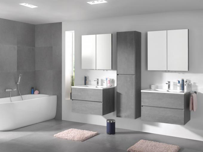 Bathroom Furniture Set EDGE 1200 - available in different colours - optional mirror cabinet and Storage Unit – Bild 20