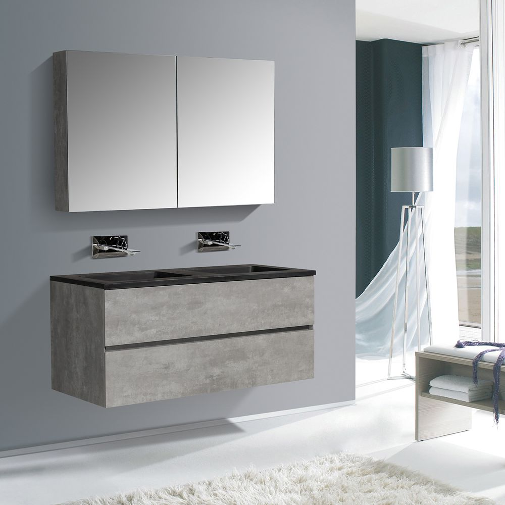 Bathroom Furniture Set EDGE 1200 - available in different colours - optional mirror cabinet and Storage Unit – Bild 4