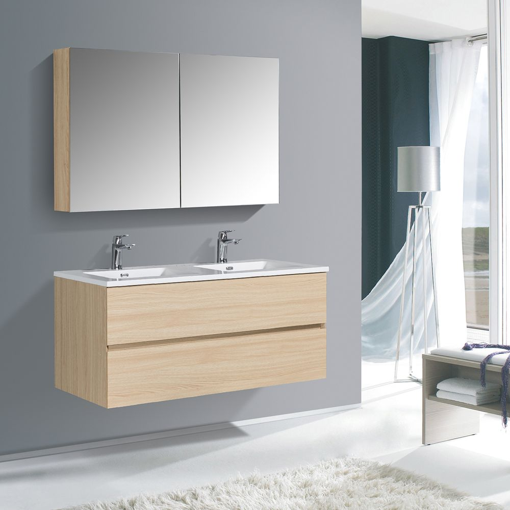 Bathroom Furniture Set EDGE 1200 - available in different colours - optional mirror cabinet and Storage Unit – Bild 5