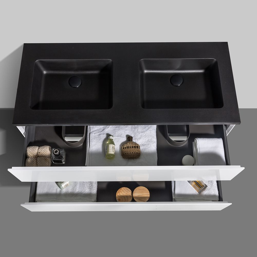 Bathroom Furniture Set EDGE 1200 - available in different colours - optional mirror cabinet and Storage Unit – Bild 10