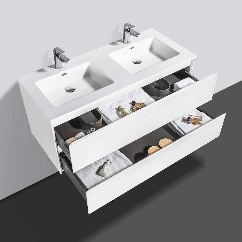 Bathroom Furniture Set EDGE 1200 - available in different colours - optional mirror cabinet and Storage Unit – Bild 8
