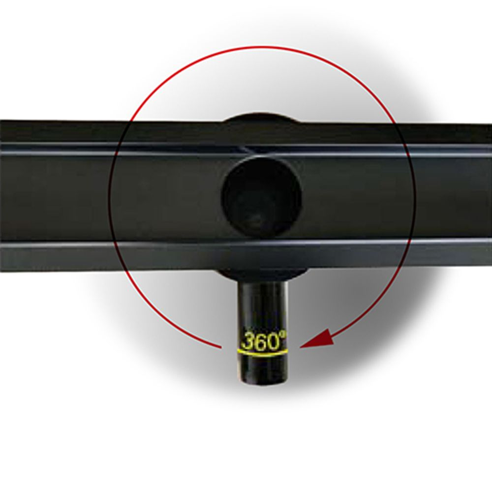 Black Stainless Steel Linear Shower Drain - FlexGTB02  - Available in different sizes  – Bild 2