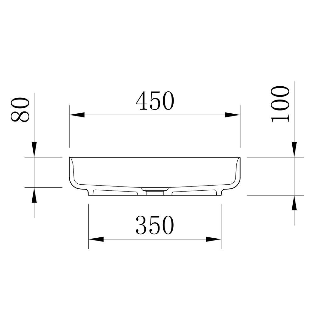 Countertop Washbasin NT2420 of mineral cast Pure acrylic - Matt Concrete Effect  - 45 x 45 x 10 cm – Bild 4