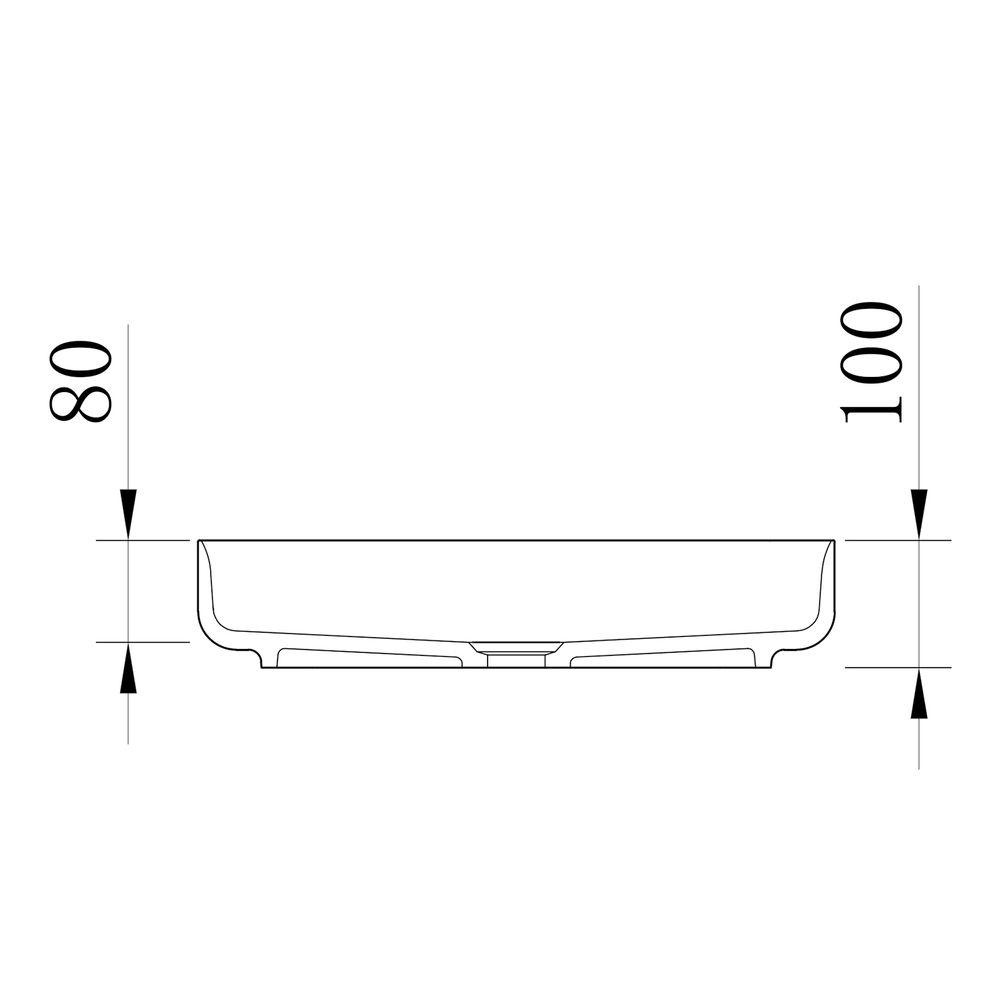 Countertop Washbasin NT2524 of mineral cast Pure acrylic - Matt Concrete Effect - 50 x 42 x 10 cm – Bild 4