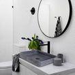 Design Aufsatzwaschbecken NT2524 aus Mineralguss - Beton-Optik matt - 50 x 42 x 10 cm