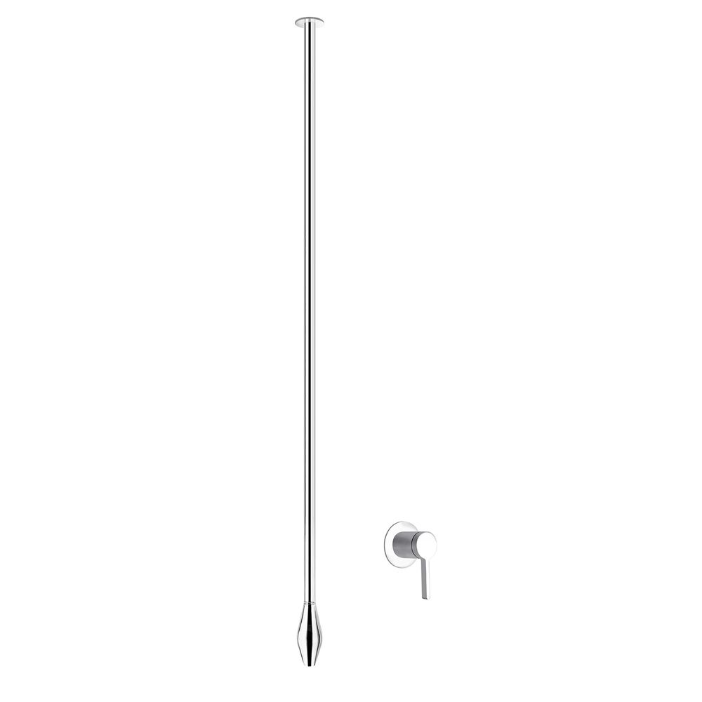 Ceiling Mounted Washbasin Tap DROP 135 - Lenght 135 cm - Available in Matt Black or Chrome – Bild 8