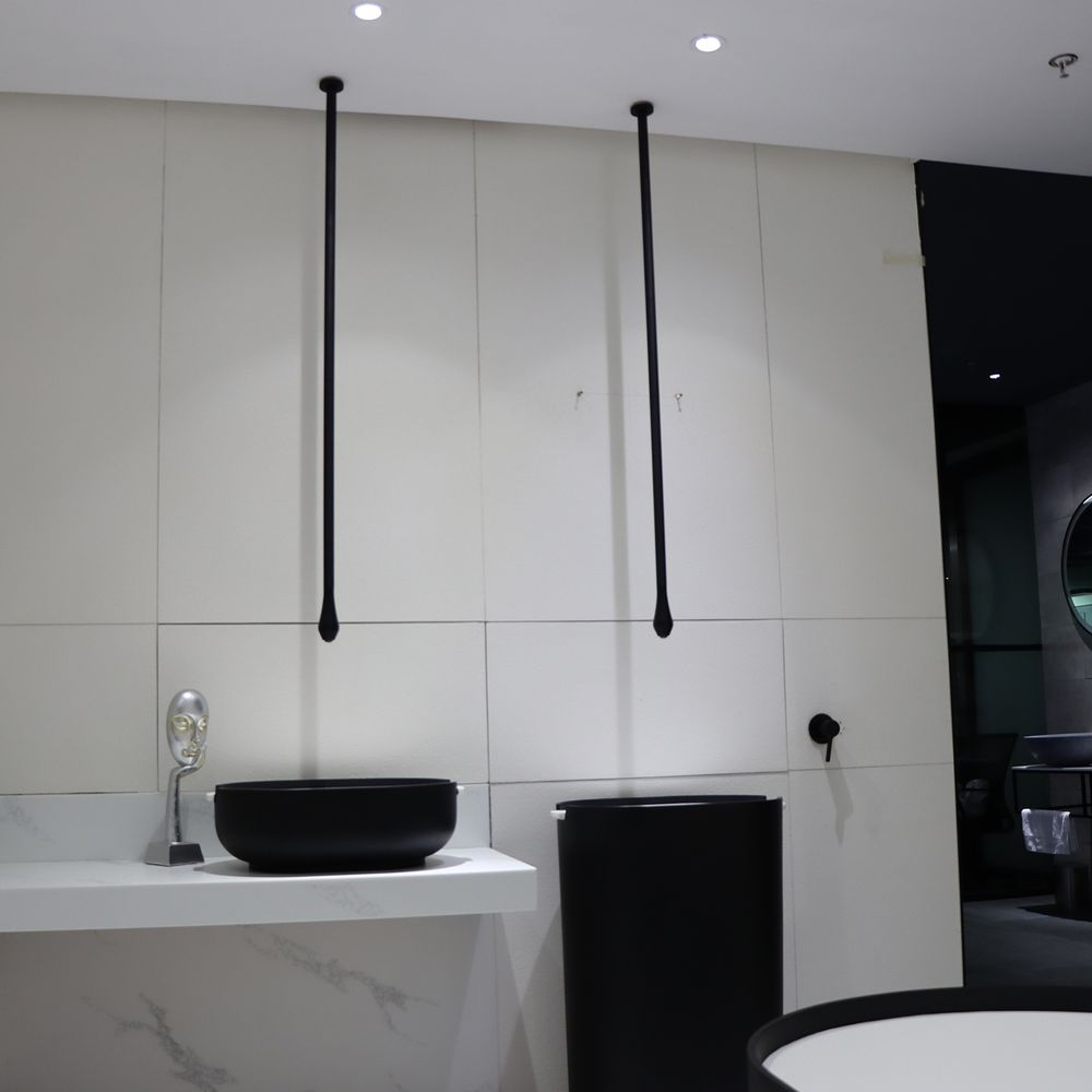 Ceiling Mounted Washbasin Tap DROP 135 - Lenght 135 cm - Available in Matt Black or Chrome – Bild 2