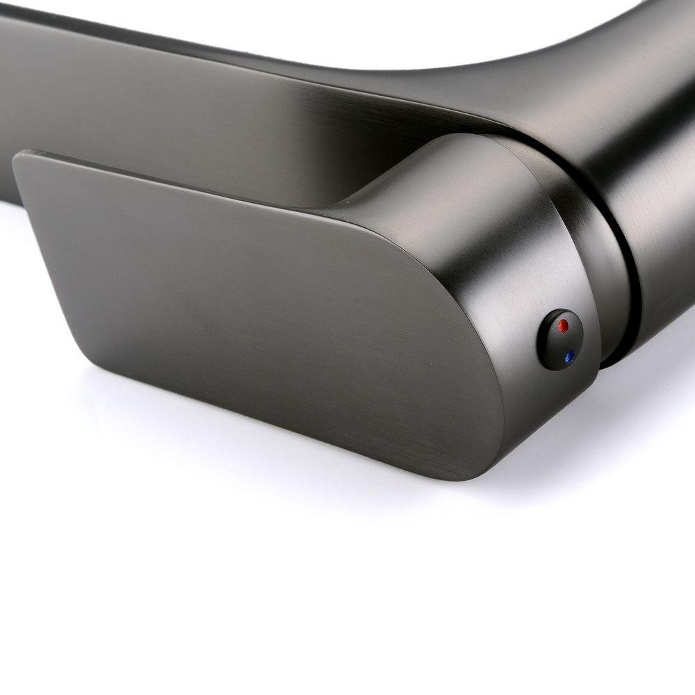 Gunmetal Grey Extended Single Lever Basin Mixer Tap 4025G  – Bild 8