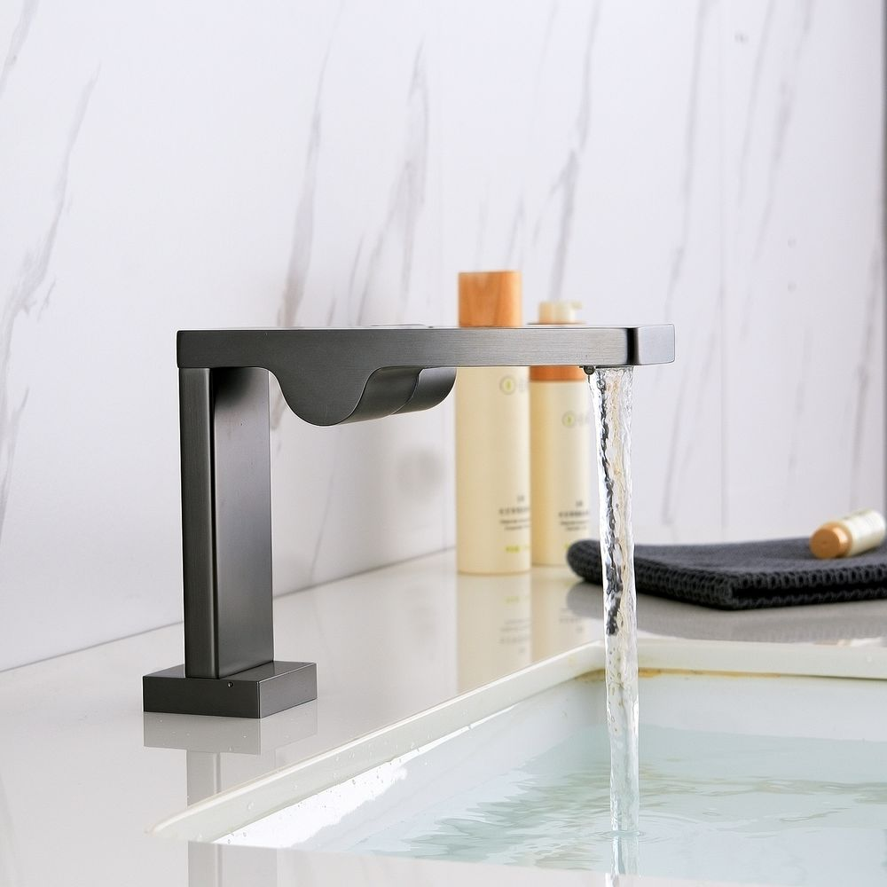 Design Waschtischarmatur Badarmatur NT3110G - Wasserhahn Farbe Gunmetal – Bild 3