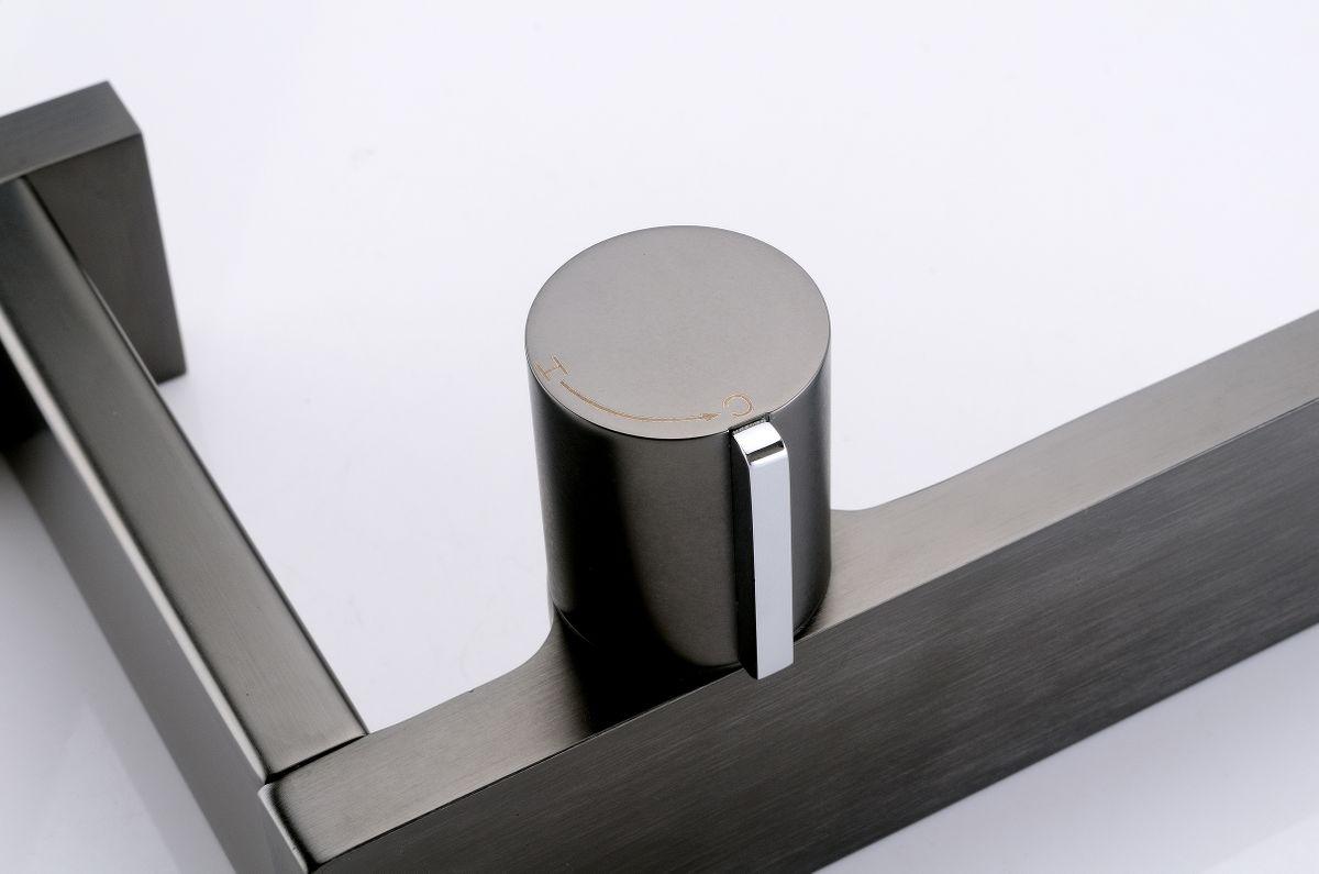 Design Waschtischarmatur Badarmatur NT3110G - Wasserhahn Farbe Gunmetal – Bild 8