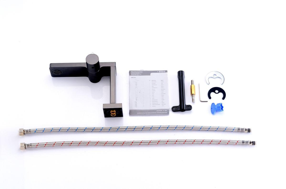 Gunmetal Grey Basin Mixer Tap  T3110G – Bild 10