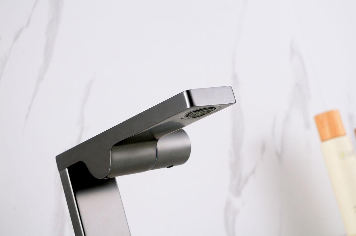 Design Waschtischarmatur Badarmatur NT3110G - Wasserhahn Farbe Gunmetal – Bild 2