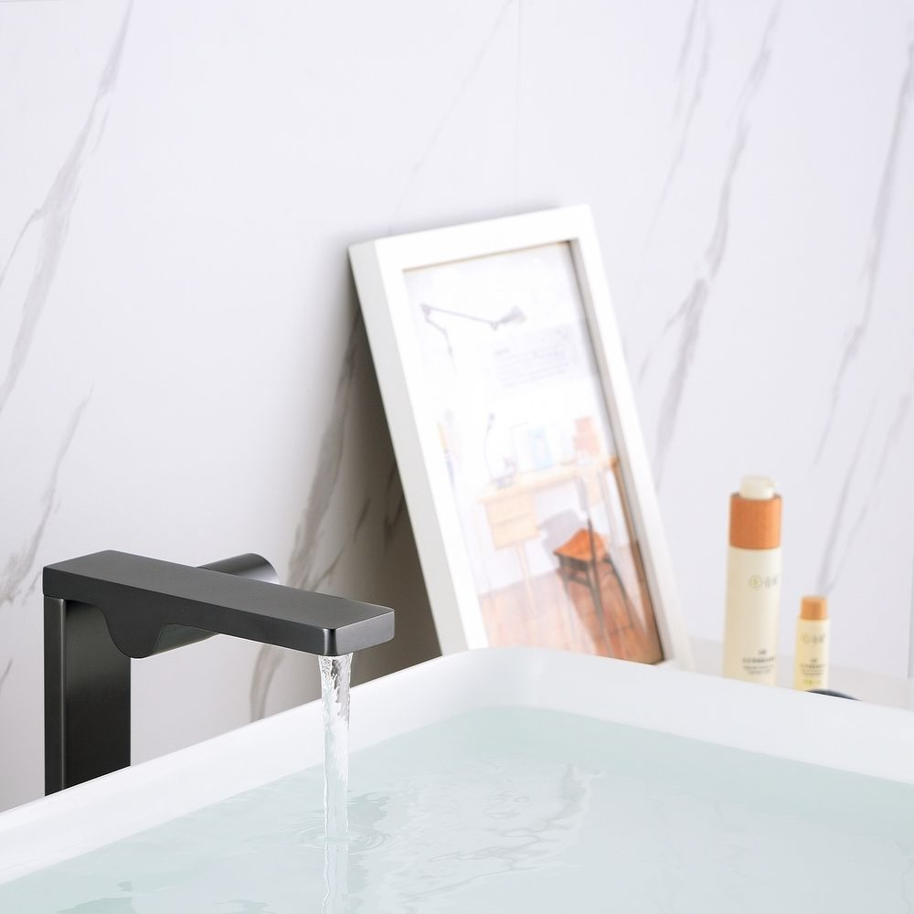 Design Waschtischarmatur Badarmatur NT3220G - Hoher Auslauf - Wasserhahn Farbe Gunmetal – Bild 3