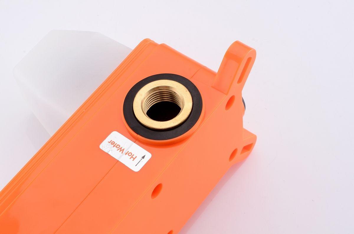 Unterputz Armatur Badarmatur Wandarmatur 9908G - Farbe Gunmetal - inkl. Unterputz-Grundkörper – Bild 8