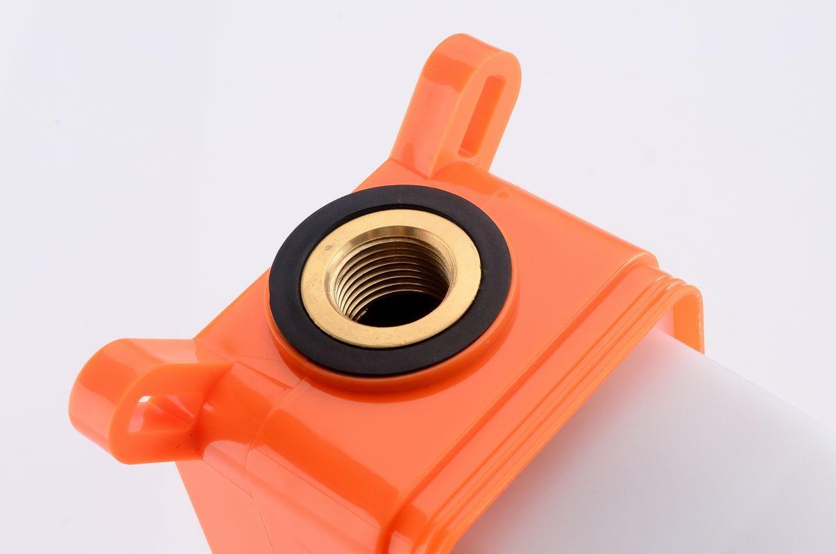 Unterputz Armatur Badarmatur Wandarmatur 9908G - Farbe Gunmetal - inkl. Unterputz-Grundkörper – Bild 6